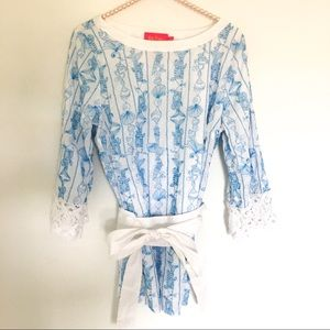 {LILY PULITZER} Jubilee By Marcia Cross Tunic M